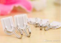 Wholesale 6pcs Home U shaped white sticky hooks kitchen bathroom door hook after hook mounted Hooks