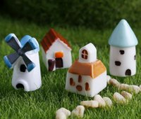 articles protection - windmill house Mini toy landscape furnishing articles Environmental protection resin Creative arts and crafts for Building castles