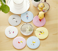 advertising pocket mirror - Cute cartoon small mirror Creative advertising gifts cosmetic mirror RANDOM color Pocket Cosmetic Mirror Beauty Accessories easy to take