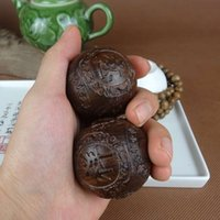 antique care - Vietnam aloes wood handle Good lucky for you health care ball collectables autograph antique wooden arts and crafts