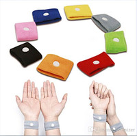 Wholesale HOT Anti Nausea Waist Support Sports cuffs Safety Wristbands Carsickness Seasick Anti Motion Sickness Motion Sick Wrist Bands
