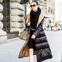 Wholesale Ladies Long Down Jacket Thick Duck Parkas Women Winter Coat Outdoor Outwear Plus Size Black Blue Grey