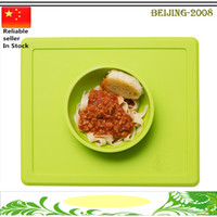 Wholesale Happy Mat Baby MealMat Feeding silicone round bowl Shatterproof food placemat for school children Meals top quality
