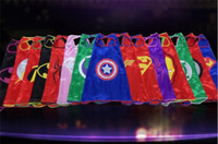Wholesale 15 styles Mono layer avengers Capes Iron man hulk Superhero cosplay costume batman spiderman capes D658