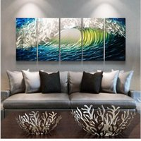 background brushes - Gold paint brush modern sofa background wall hand painting decorative painting oil painting quality brief paintings mural