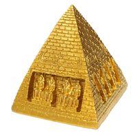 Wholesale 9cm Synthetic Resin Golden Pet Aquarium Decoration Resin Ornament Fish Tank Egypt Pyramid Pyramid Classic Style x x cm