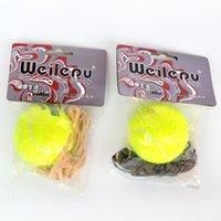 Wholesale Belt Line Tennis Balls Training Allelastic Rubber Band Tennis Ball Green Training Tennis Balls L019