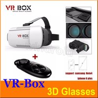 Wholesale Head Mount Plastic VR BOX Version VR Virtual Reality Glasses Rift Google Cardboard D Movie for quot quot Smart Phone with retail box