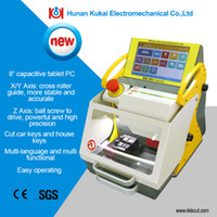 Yellow and off-White auto machine gun - New Version Widely Used Automatic Duplicate Key Cutting Machine SEC E9 Car Key Machine factory price for sale