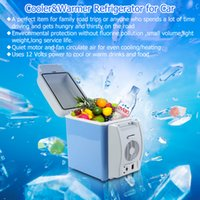 auto refrigerators - 2016 Portable V L Auto Car Mini Fridge Travel Refrigerator Quality ABS Multi Function Home Cooler Freezer Warmer