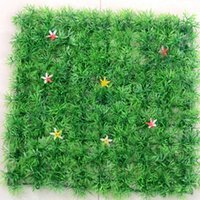 Wholesale Artificial Simulation of Encryption Plastic Lawn Star Flower Grass Mat For Home Garden Wedding Decoration
