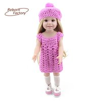 american girl doll house - New Style cm Full Vinyl American Girl Baby Dolls Realistic Toys For Kids Play House Toys Gift Accompany Sleep Doll