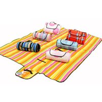 beach creep - Outdoor Camping Beach Fleece Sleeping Mat Pad Picnic Park Moisture proof Creeping Suede Pad Sand Mat x200cm Random Color