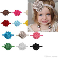 Wholesale Cute Kids Girls Rose Flower Headbands Princess Holiday Hair Accessories Ponytail Headbands
