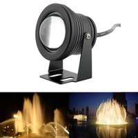 Wholesale W Black Garden Underwater Pool Lake Pond Waterproof Light Spotlight Landscape Lamp Warm White V
