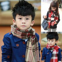 Wholesale Baby Blanket Tartan Fleece Scarf Wrap Shawl Plaid Cozy Checked Pashmina Autumn Winter Fashion Scarves Christmas Party Kids Boys Girls