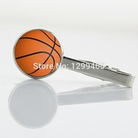 basketball clips - Basketball number sport Tie Clips basketball player Formal Wear Necktie Tie Bar Fashion Man s Classic simple tie clip T