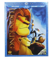 box dvd set wholesale - Factory Direct The Lion king blu ray Set Diamond Edition Player with Retail Box and DHL