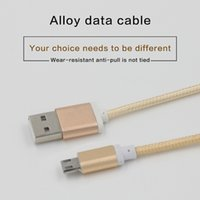 Wholesale 1 M Fabric Braided Micro USB Data Cable Charging Cable Cord Line Charger Adapter For iphone Iphone5s Samsung