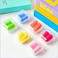 Wholesale 2016 Brand new Foam Sponge Earplugs Great for travelling sleeping reduce noise Ear plug randomly color drop shipping