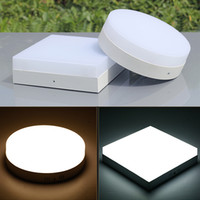 acrylic ceiling - Acrylic LED ceiling light surface mounted panel W W W W No edge downlight round square shaped K K AC85 V New arrival