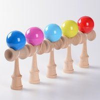 Wholesale Kendama Ball Funny Japanese Traditional Wood Game Toy Kendama Ball cm Education Toy Gift Children Intelligence Toy Ball