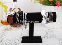 big black racks - Big Discount Jewelry Display Portable Black Velvet Bracelet Bangle Watch T Bar Rack Jewelry Display Organizer Stand Holder Case