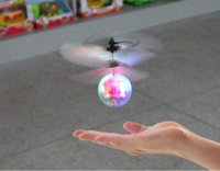 Wholesale Intelligent Induction Remote Control RC Helicopter Flying Quadcopter Drone Kids Toy Colorful Creative Crystal Ball
