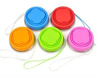 Wholesale 2016 High Quality Outdoor Sport Hiking Walking Travel Portable Silicone Retractable Folding Telescopic Collapsible Cup Color