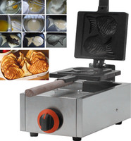 Wholesale Gas belgium waffle maker gas taiayki waffle making machine with high quality for sale