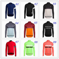 Wholesale 2016 New Rapha Spring Outdoor Long Sleeve Cycling Jersey Bicycle Sports Clothing Man Bike Riding Shirts Styles Autumn Winter Wear For Sale
