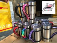 Wholesale Handmade cup Handle Paracord Yeti Rambler Oz oz Rambler Tumbler Cups Handle RTIC Rambler Handmade Handle