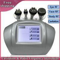 Wholesale bipolar RF ultrasonic liposuction cavitation vacuum slimming machine radio frequency face skin tightening weight loss heads color light