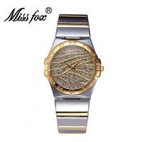 NUEVOS mejores relojes de oro de la calidad Reloj Reloj de las mujeres del oro Reloj Reloj impermeable romántico del cuarzo de la manera del regalo