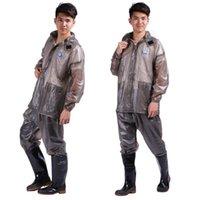 Wholesale Korean fashion adult self thickening transparent electric car motorcycle body Yupi raincoat rain pants suit