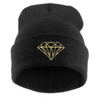 Wholesale 2016 New winter Hat Cap Beanie wool knitted men women Caps hats diamond embroidery Skullies warm Beanies Fashion Outdoor Caps