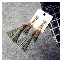 Wholesale South Korea imported East Gate purchasing Vintage palace long Tassel Earrings Earrings exaggerated