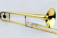 Wholesale Bb Tenor Trombone Yellow brass Trombone EMS shipping Brass Musical instruments