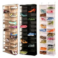 bamboo shoe brand - 100 brand new and high qualityUseful Pocket Shoe Rack Storage Organizer Holder Hook Folding Hanging on Door Closet