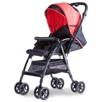 babies absorber - Baby trolleys Baby pram Four wheel shock absorber can sit down and sit high landscape lightFolding umbrella car carts
