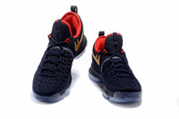 Cheap 2016 new arrival high quality kd9 Basketball shoes Kevin Durant KD 9 black gold sneaker for men running shoes size : 7-12 Free shipping