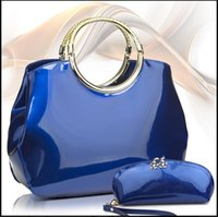bag package patent - Handbags New Arrivals Leather handbags New Shiny of Patent leather shell Bags Simple fashion Shoulder bag package FASHION BAGS