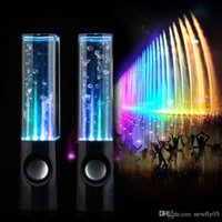 active dock - LED USB Dancing Water Speaker Active Portable Mini USB LED Light Speakers For Iphone Ipad PC MP3 MP4 PSP PC Compuer