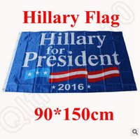 Wholesale 90 cm Hillary flag x5 Foot US Presidential Election Flag Hillary for President American Flag With Brass Grommets CCA5181