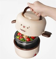 automatic rice cooker - Electric Lunch Box mini rice cooker full automatic L heat preservation bento box dinnerware kitchen tools F