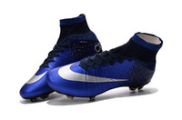 Wholesale 2016 New Men s Superfly CR7 FG Football Boots With ACC Magista Obra Football Boots Men Soccer Boots Cleats Shoes Sneaker Sports Shoes