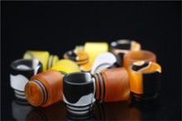 Wholesale Hot TFV8 Resin Drip Tips for SMOK TFV8 Pretty pattern resin drip tips for RDAs Vapor TFV8 Tank