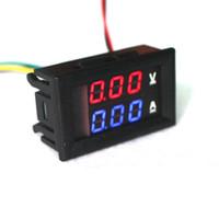 Оптово-красный синий светодиод DC 0-100V / панель 10A Мотоцикл Цифровой усилитель метр Вольтметр Амперметр Вольтметр Gauge цифровой ДЛЯ автоинструмент