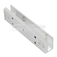 magnetic door lock - 280KG Magnetic Lock U Shape Bracket for Frameless Glass Door Access Control System Kit