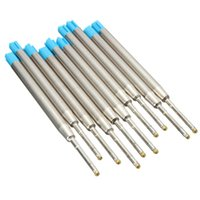 Wholesale 10pcs New Arrival Blue Ink Ballpoint Pen Refills mm Office School Stationery